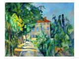 Maison Au Toit Rouge- House with a Red Roof, 1887-90 Giclée par Paul Cézanne