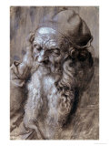 Old Man  or Study for a Saint  Brush Drawing on Brown Paper  1521