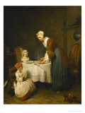 Saying Grace  (La Benedicite)  Salon of 1740