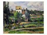Landscape in Auvers Giclée par Paul Cézanne