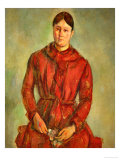 Madame Cezanne in a Red Dress  1888-1890