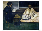 Paul Alexis (Secretary to Zola)  Reading to Emile Zola  1869-1870