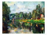 Bridge Over Ther Marne at Creteil, 1888 Giclée par Paul Cézanne