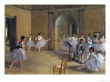 Ballet Studio at the Opera in Rue Le Peletier  1872