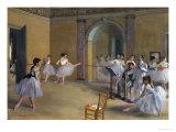 Ballet Studio at the Opera in Rue Le Peletier, 1872 Giclée par Edgar Degas