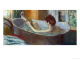 Woman in Her Bath  Washing a Leg  1883-1884