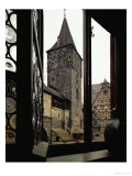 View from Albrecht Duerer's House in Nuernberg  Germany