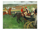 The Race Course: Amateur Jockeys Near a Carriage  1876-1887