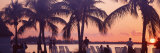 Sunset on the Beach  Miami Beach  Florida  USA