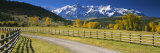 Fence along a Road  Sneffels Range  Colorado  USA