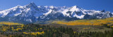 Mountains Covered in Snow  Sneffels Range  Colorado  USA