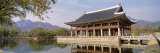 South Korea  Seoul  Kyongheru  View of Traditional Architecture on a Lake