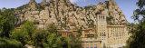 Rock Formations over a Monastery  Montserrat Monastery  Montserrat Barcelona  Catalonia  Spain