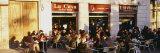 Tourists Sitting Outside of a Cafe  Barcelona  Spain