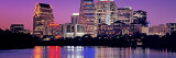 Urban Skyline at Night  Austin  Texas  USA