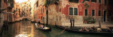 Tourists in a Gondola  Venice  Italy