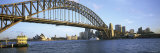 Bridge and City  Sydney Harbor  Sydney  New South Wales  Australia