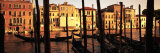 Gondolas in a Canal  Venice  Italy