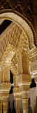 Carving on Arches and Columns of a Palace  Court of Lions  Alhambra  Granada  Andalusia  Spain