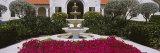 Azaleas Growing near a Fountain in a Garden  Boca Grande  Gasparilla Island  Florida  USA