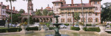 Fountain in Front of a Building  Lightner Museum  Flagler College  St Augustine  Florida  USA
