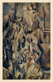 Violon and Jug Reproduction d'art par Georges Braque