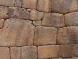 Original Inca Wall Pattern  Machu Picchu  Peru  South America