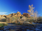 Oak Creek Running Before Cathedral Rocks  Red Rock Crossing  Sedona  Arizona  USA