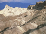 Zabriskie Point after Sunrise  Death Valley Badlands Landscape  California  USA