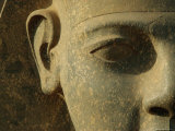 Close up of Ramses II Statue Luxor  Egypt