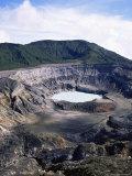 Looking into Poas Crate  Poas Volcano National Park  Costa Rica
