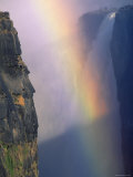 Victoria Falls with Rainbow in Spray  Zimbabwe