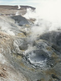 Geysers and Boiling Mud  Sol De Mamama Geyser  Altiplano  Bolivia