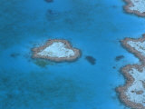 Aerial View of the Heart Reef  Hardy Reef  Great Barrier Reef  Queensland  Australia