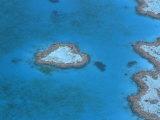 Aerial View of the Heart Reef  Hardy Reef  Great Barrier Reef  Queensland  Australia