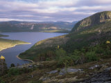 Late Evening Light Over Norwegian Fjord  Lausvnes  Nord-Trondelag  Norway  Europe