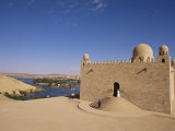 Aga Khan Mausoleum on River Nile  Aswan  Egypt