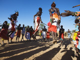 Samburu People Dancing  Laikipia  Kenya
