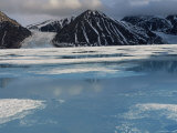High Arctic Landscape in Spring  -40 Degrees C  Bylot Is  Baffin Is  North West Territories  Canada