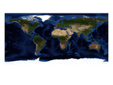 Topographic & Bathymetric Shading of Full Earth