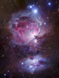 M42, the Orion Nebula (Top), and NGC 1977, a Reflection Nebula (Bottom) Papier Photo par Stocktrek Images