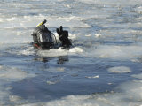 US Navy Diver Signals He is Okay During a Training Mission in the Icy Thames River