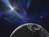 This Artist's Concept Depicts the Pulsar Planet System Discovered by Aleksander Wolszczan in 1992