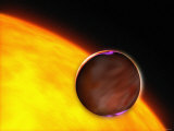 Shows a Dramatic Close-Up of the Extrasolar Planet XO-1B Passing in Front of a Sun-Like Star