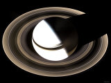 Saturn Sits Enveloped by the Full Splendor of Its Stately Rings