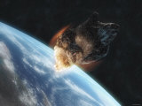 Asteroid in Front of the Earth