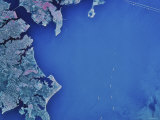Satellite Image of Chesapeake Bay and Annapolis  Maryland