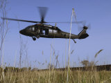 March 31  2007  a US Army UH-60 Black Hawk Helicopter Prepares to Pick up Soldiers