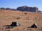 Looking South to Jebel Khazali  from Abu Aineh  South of Rum Village  Wadi Rum  Jordan  Middle East