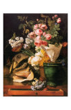 Roses et Autres Fleurs  Coquillages  Tete de Requin et Petrifications  c1819